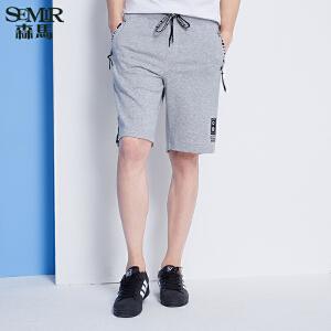 森马休闲裤 夏装 男士时尚休闲直筒五分裤针织裤韩版潮男