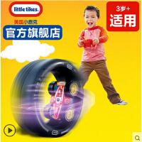 Little Tikes 小泰克儿童玩具遥控汽车赛车 旋转翻滚带轮胎跑道