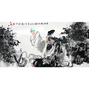 中美协会员 胡正伟【东坡醉吟图】Z2751