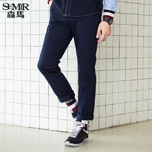 森马休闲裤 年秋季 男士韩版男款修身小直筒长裤潮
