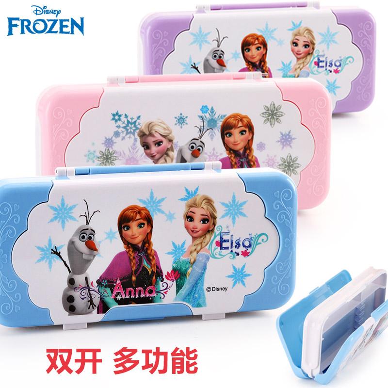 【迪士尼画具/画材】迪士尼小学生文具盒女童塑料笔盒