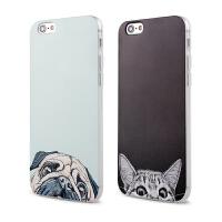 【全国包邮】hidog 苹果iPhone6s手机壳卡通萌猫狗6splus保护套硅胶浮雕5s外壳