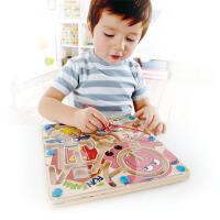 Hape 快乐农场迷宫 立体磁性 儿童益智早教玩具 E1702