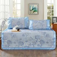 泰蜜熊凉而不冰亲肤柔软舒适夏季冰丝席枕套2个席子一个三件套1.5米 1.8米