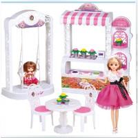 全店满99包邮!乐吉儿蛋糕花店芭比娃娃套装礼盒正品2014女孩公主玩具