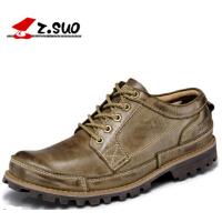 透气布洛克男士休闲鞋复古工装鞋真皮鞋英伦男鞋子板鞋大头鞋