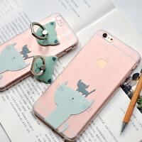 �有牧计� 原创设计两只小猫系列 苹果手机壳 iphone6/plus手机保护套