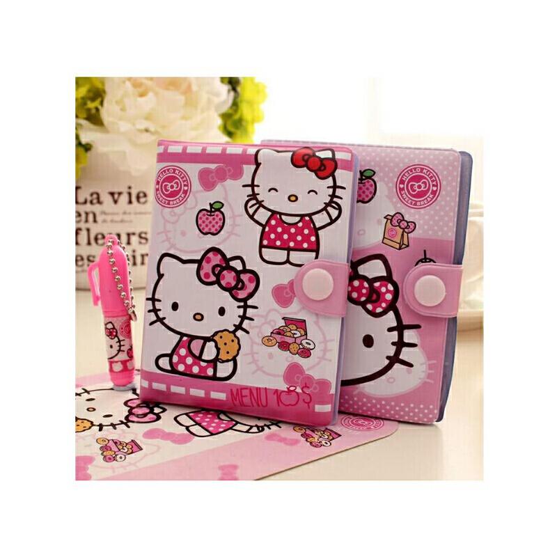 卡通kt猫花花姑娘迷你可爱小本子日记本带笔笔记本 儿童礼物奖品 本子