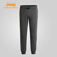 【全场2.5折起】Jeep/吉普 秋冬男士户外运动休闲徒步登山运动针织长裤J662021390