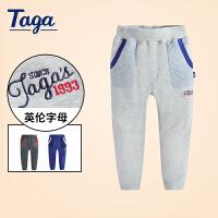 【满200-100】TAGA 2017秋季新款童装男童长裤中大童儿童运动裤时尚休闲裤
