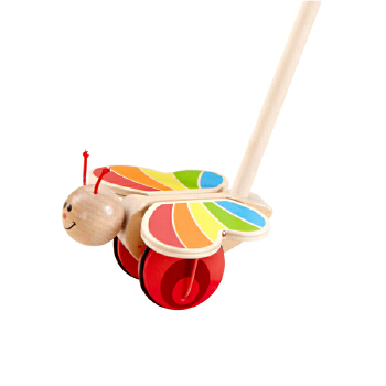 hape蝴蝶益智乐1岁以上推推系列儿童学步木制玩具e034020元的玩具图片