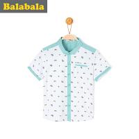 巴拉巴拉男童衬衫短袖小童宝宝上衣童装儿童卡通小狗衬衣