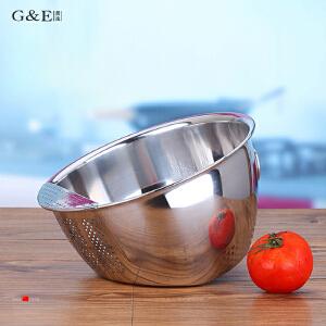 居逸不锈钢沥水盆淘米盆洗米盆淘米篮GE5005003