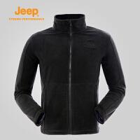 Jeep/吉普 秋冬男户外抓绒衣开衫外套单穿夹克J662011401