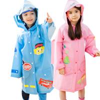 kocotree新款儿童雨衣男童女童小孩宝宝透气带书包位学生雨披卡通