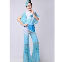 新款秧歌服装现代古典舞表演服民族舞蹈演出服装腰鼓扇子舞台装女