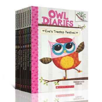 猫头鹰日记英文原版 Owl Diaries 6册套装 桥梁章节书 Scholastic Branches 学乐大树系列 儿童英语学习 彩绘画书阅读