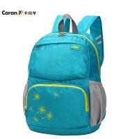 卡拉羊双肩包休闲购物包旅行背包旅游大容量男女折叠包CX5683