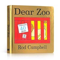 进口英文原版正版 Dear Zoo 亲爱的动物园立体翻翻纸板书Rod Campbell英语启蒙绘本0-1-2-3-4岁A Lift-the-Flap Book 吴敏兰推荐书单送音频亲子游戏低幼儿童读物