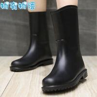 物有物语 雨鞋 女春夏时尚简单户外中筒雨靴塑胶鞋成人学生防滑防水鞋果冻胶鞋小马靴下雨鞋子