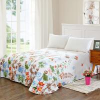 当当优品 纯棉斜纹床上用品 床单250*230cm 花团锦簇