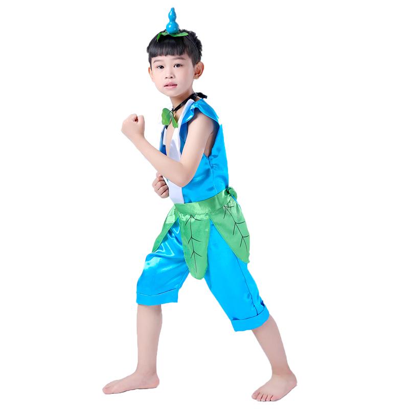 葫芦娃演出服 儿童六一表演服儿童节时装秀服幼儿园舞台表演服装图片