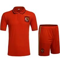 16-17赛季新款橙色恒大足球服 印字印号团购足球服 西甲英超意甲曼城足球服曼联拜仁恒大上港切尔西