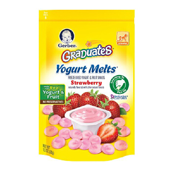 Gerber 嘉宝 草莓味酸奶溶豆28g宝宝辅食(3袋装)