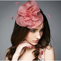 甜美可爱派对花饰帽子 欧美麻纱小礼帽潮流优雅花饰帽子