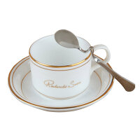 陶瓷杯子 欧式金边骨瓷咖啡杯碟/单品杯/意式杯套装送咖啡勺 大