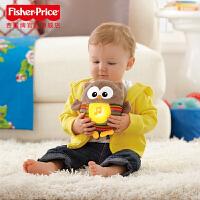 费雪声光安抚猫头鹰 婴幼儿胎教玩具含音乐毛绒玩具 宝宝助眠神器