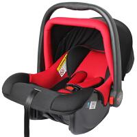 【当当自营】英国zazababy新生儿汽车用安全座椅 车载车用婴儿宝宝提篮式摇篮座椅 黑红